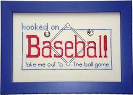 Hooked On Baseball charms + cross stitch chart Handblessings - $9.90