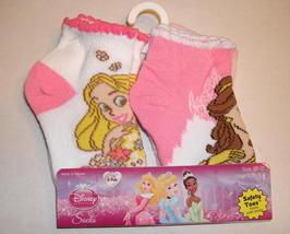 Disney Princess Socks Toddler Girl Size 2T - 3T Shoe Size 5 - 8 Safety Toes 4 Pk - $4.99