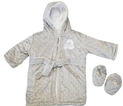 Blankets and Beyond Boys Bathrobe & Slippers Set Gray - $19.99