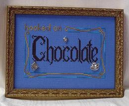 Hooked On Chocolate charms + cross stitch chart Handblessings - $10.80