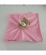 Pink Bear Lovey Security Blanket I Love Mommy Magic Years Plush Rattle S... - $16.82
