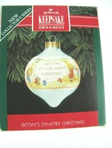 Hallmark Vintage Glass Dated 1992 First In The Betsey's Country Christma... - $11.83