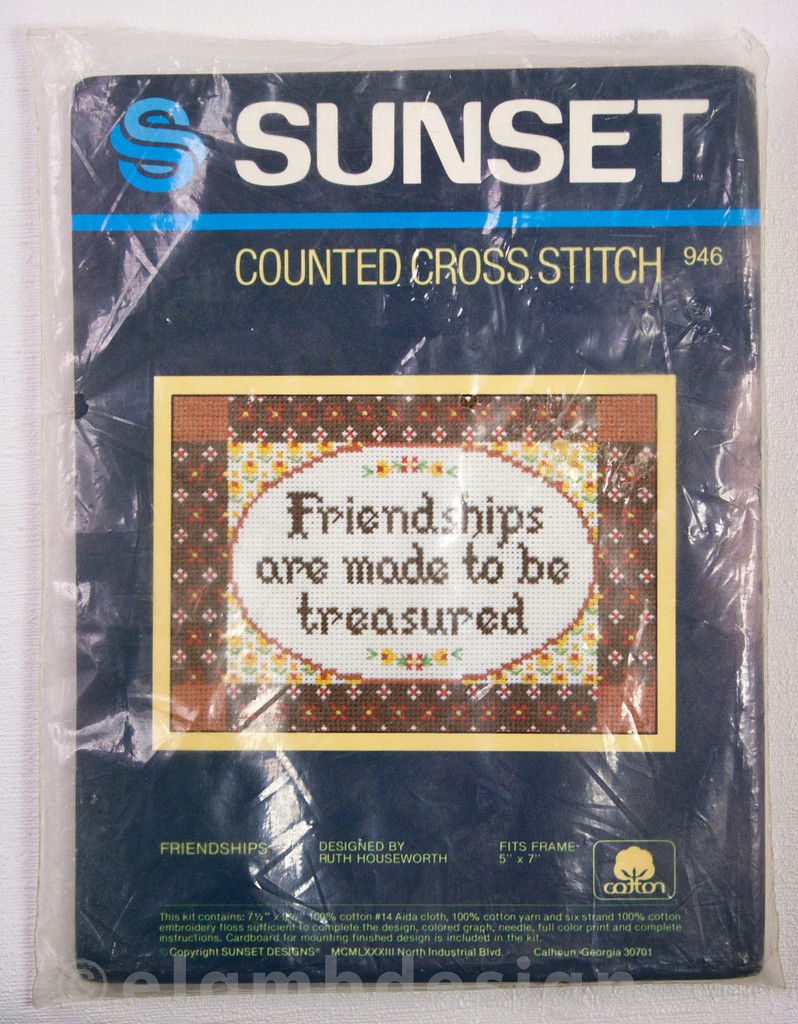 Primary image for Sunset Counted Cross Stitch Friendships Kit 946 Ruth Houseworth Vintage 1983 New