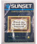Sunset Counted Cross Stitch Friendships Kit 946 Ruth Houseworth Vintage ... - $6.95