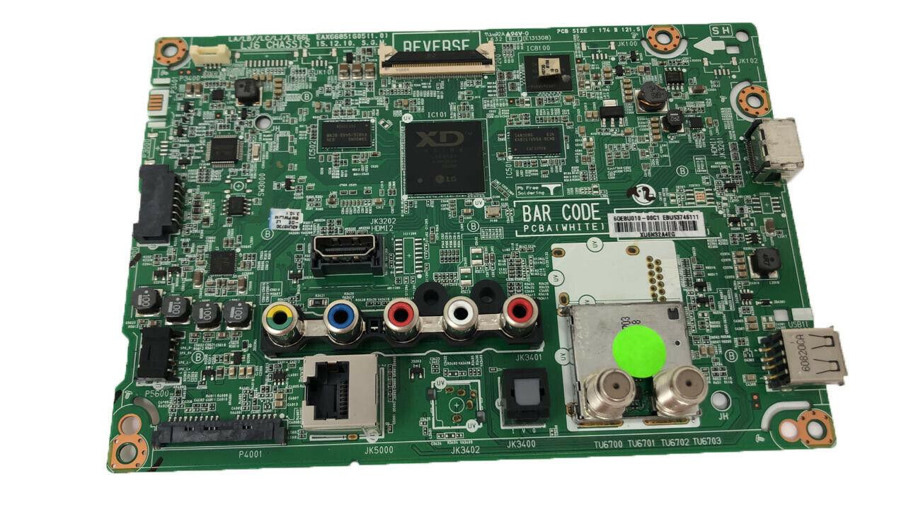 EAX66851605 (1.0) Main Board JK3202 For LG 55LJ540TDA 6OEBU01000C1 EBU53746111 - $36.87