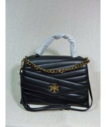 NWT Tory Burch Black Kira Chevron Top-Handle Satchel - $492.10