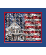 United State Presidents Mosaic Print Art Designed using all the United S... - $20.00
