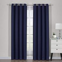 """54""""x84"""" Pair Navy Blackout Weave Curtain Panels with Tie Backs Pair (Set... - $55.44"""
