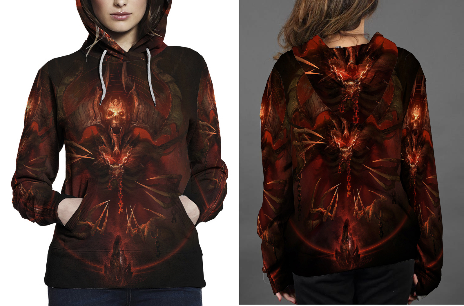 Mephisto  lord of hatred hoodie women s