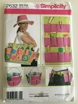 Simplicity Sewing Pattern 2632 Garden Accessories Bag Hat Tool Belt Cadd... - $4.99