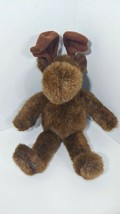 Russ Berrie Plush Marty Moose brown antlers stuffed animal - $4.94