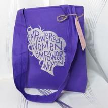 NEW Vinyl by Jamie Empowered Women Empower Women Purple Sparkle Tote Bag... - $14.99