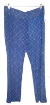 "Dana Buchman Blue Diamond Floral Pants ""Blue Crush"" Pants NWT$48 Sz XL  - $37.99"