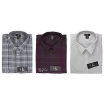 NWT Calvin Klein CK Men's Shirt 100% Cotton Long Sleeve Pointed Collar XL/2XL - $34.99
