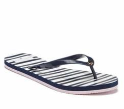 KATE SPADE Blue White Pink Gold Stripe Nassau Thong Flip Flop Sandals Si... - $29.00