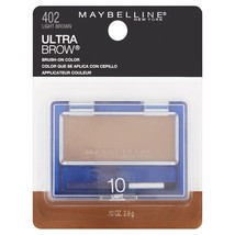 Maybelline New York Ultra Brow Brush-On Color, Light Brown .10 oz - $17.74