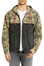 Levi's x Justin Timberlake Mens Hybrid Trucker Hoodie 795120000 Black/Ca... - $81.16