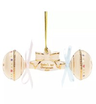 New Lenox 2016 Baby's 1st Christmas Rattle Ornament America By Design - $19.64