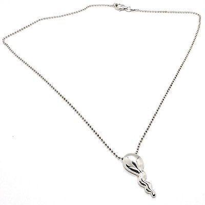 925 Silber Halskette,Kette Kugeln,Anhänger Tadpole,Anhänger