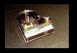 Miniature Baby Grand Piano Music Box AB 645 Vintage