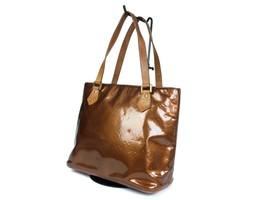 Auth LOUIS VUITTON HOUSTON Patent Leather Bronze Tote Bag LH16922L - $239.00