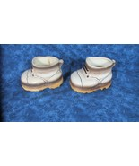 Pair 1950's Porcelain Baby Shoes, Japan, 39c Stamp, Very Nice - $14.95