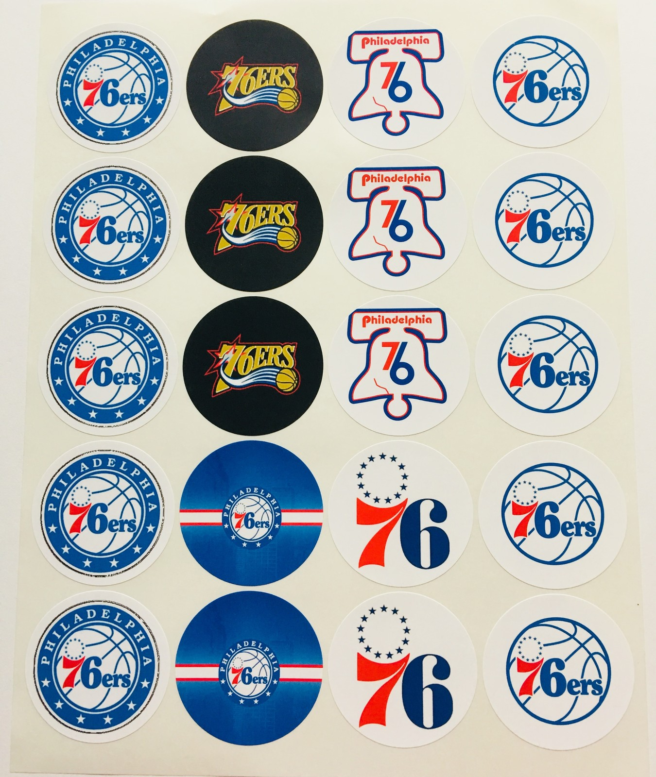 "SET of 20-2/"" LOS ANGELES DODGERS ADHESIVE STICKERS.Baseball Birthday Parties"