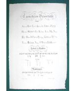 "1826 PENMANSHIP Alphabets Greek Hebrew & Rabbi - 12x8"" (30x46 cm) Superb... - $33.71"