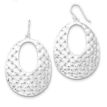 Primary image for Lex & Lu Sterling Silver Weave Design Dangle Earrings