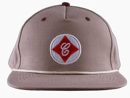 Cousins SportsWear Men's Cook County Leather Strapback Baseball Hat Cap NWT