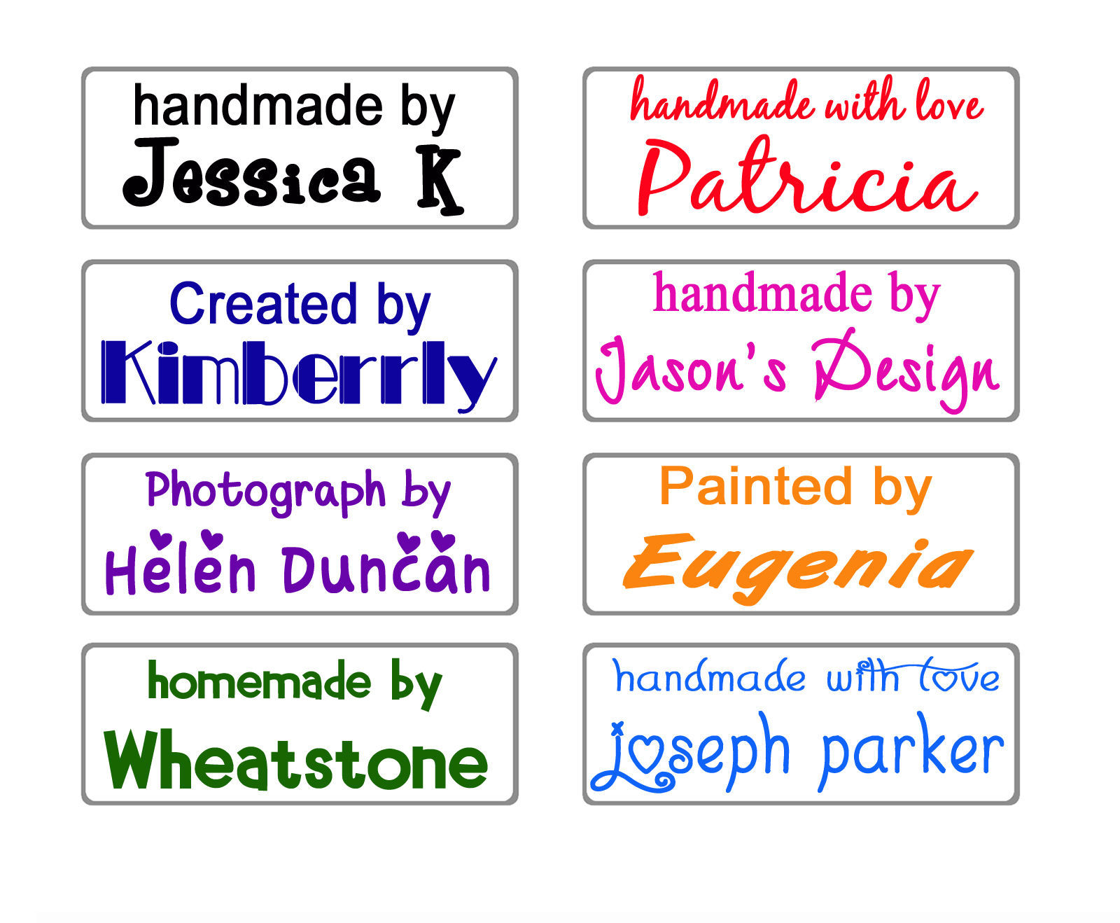 custom name self inking handmade with love by business signature rubber stamp