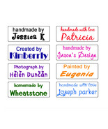 custom name self inking handmade with love by business signature rubber ... - $5.93