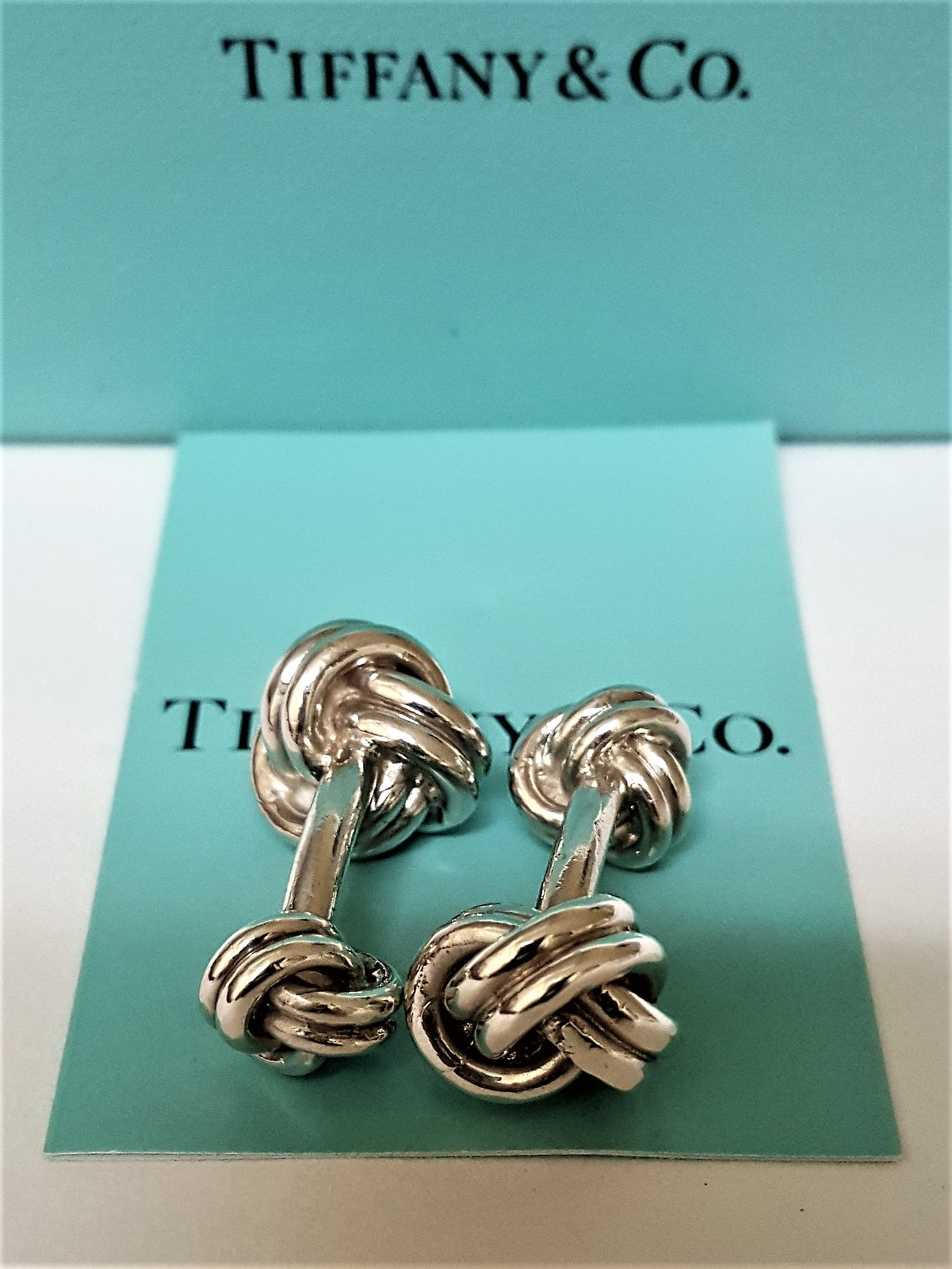 Tiffany Amp Co Cuff Links Double Love Knot 925 Silver
