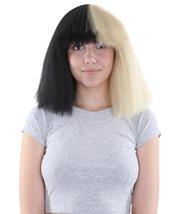 Australian Singer Black & BlondeLarge Wig - £23.69 GBP
