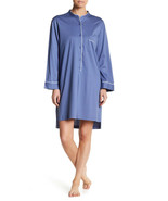 NWT New Designer Natori Womens S SleepShirt Cotton Blue White Supima Cot... - $117.00
