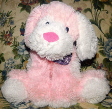 "Animal Adventure Pink PUPPY DOG 18"" Floppy Plush Bandana 2015 Stuffed LO... - $20.53"