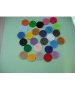 All Mix Colors-400 Die Cut Felt Circles- Felt Circles - 1 inch-Free Ship... - $14.99