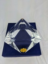 """Superior Quality Hand Cut Glass Desk Accessory or Ashtray 5"""" Japan - $39.95"""