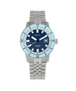 Heritor Automatic Edgard Bracelet Diver's Watch w/Date - Light Blue/Navy - $760.00