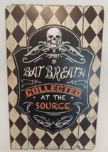 Halloween Wall Hanging Plaque Sign Decor Harlequin Skull Sprirt of Bad B... - $18.69