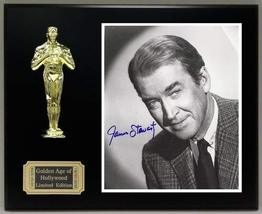 James Stewart Reproduction Autographed 8 x 10 Photo LTD Edition Oscar Movie Disp - $66.45