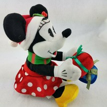 """Disney Gemmy Singing Minnie Mouse Christmas Plush Here Comes Santa Claus 8"""" - $23.33"""