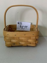 "2002 Longaberger 6"" tall x 5 1/2"" Basket - $10.00"