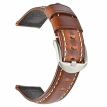 Vintage Leather Watch Band EACHE Watch Strap Oil Wax/Discolored Litchi G... - $31.36