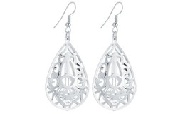 Hollow Water Drop Dangle Long Earrings For Women - $22.49