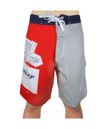 BUDWEISER Board Shorts King Of Beers Classic Beer Label Mens Swim Trunks... - $21.95