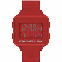 LRG Lifted Research Group Fire Red Digital LCD Tree Search Watch New in Box
