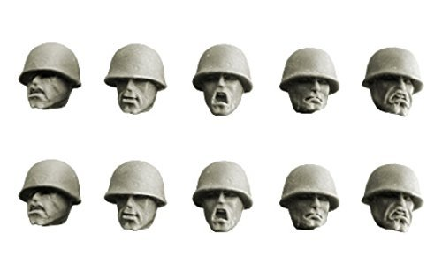 Spellcrow 28mm Conversion Bits Guards Heads in M1 Helmets