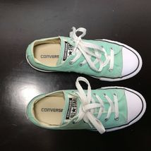 Converse All Star Chuck Taylor-  youth Sz 3,  Mint Green canvas shoes. Nice! image 7