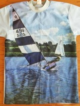Custom Casual Sailing Sailboat Boating Boat Ocean Tee T Shirt Men's SZ M... - $17.75